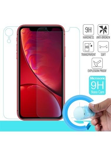 Microsonic iPhone XR (6.1'') Ön + Arka Nano Cam Ekran Koruyucu Renksiz